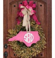 Handpainted Monogrammed State Signs