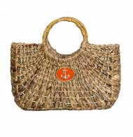 Wimberly Inc Medium Straw Tote With Anchor Color Choice
