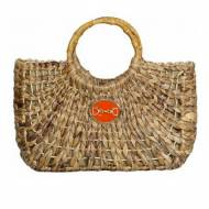 Wimberly Medium Straw Tote With Horsebit Charm All Colors