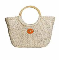 Wimberly Large Straw Boat Tote With Bee Charm In 14 Colors