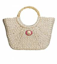 Wimberly Inc Large Straw Boat Tote With Sandollar Charm In 14 Colors