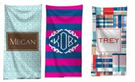 Monogrammed Beach Towels For Graduation!