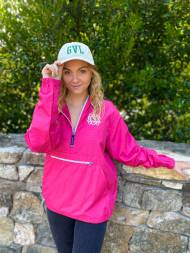 Monogrammed Rain Jacket Pack N Go Lightweight Pullover In 10 Colors
