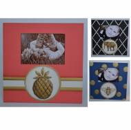 Handpainted Wooden Frames With Bee, Elephant, Anchor Or Pineapple