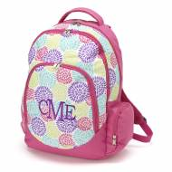 Monogrammed Bloom Backpack With Tablet Compartment
