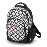 Monogrammed Black Sadie Circles Backpack With Tablet Compartment