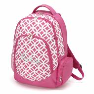 Monogrammed Pink Sadie Circles Backpack With Tablet Compartment