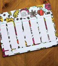 Personalized Calendar Pad In 100 Patterns