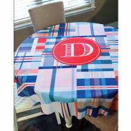 Monogrammed Round Table Cloth 70 Inches And Choose From 100 Patterns