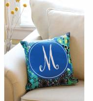 Monogrammed Canvas Pillow Choose From 100 Patterns
