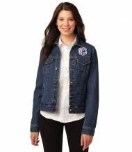 Monogrammed Denim Jacket Xsmall To 4XL