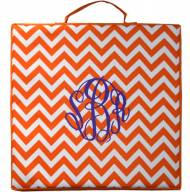 Monogrammed Stadium Cushions In Fun Gameday Chevron Colors