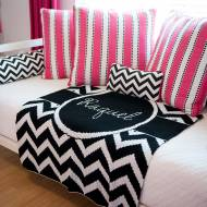 Monogrammed Knit Blankets In Fun Designs