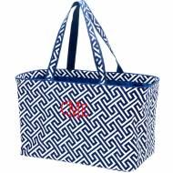 Monogrammed Navy Greek Key Ultimate Carry All Tote