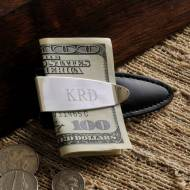 Monogrammed Arrowhead Money Clip