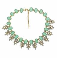 Serena Necklace In Aqua Stones And Crystals