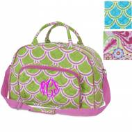 Quilted Monogrammed Day Traveler In 3 Colors