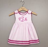 Monogrammed Dress Cotton Pink With Hot  . . .