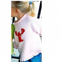 Hand Knit Sweater Red Lobsters