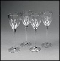 Personalized Set Of Four Tuscany White  . . .