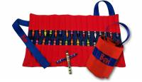 Monogrammed Red And Blue Crayon Keeper