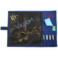 Monogrammed Blue Chalkboard Placemat