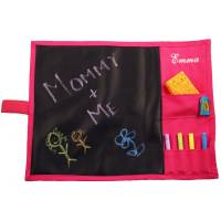 Monogrammed Hot Pink Chalkboard Placemat