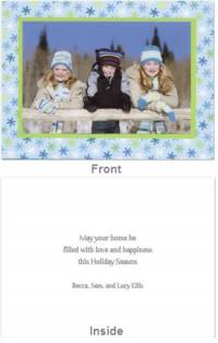 Snowflake Light Blue Folded Photocard