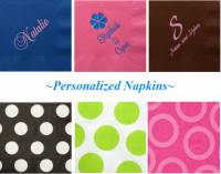 Personalized Napkins For Large Quantity  . . .