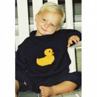 Hand Knit Ducky Sweater