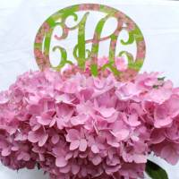 Monogrammed  Lilly Acrylic Cake Topper
