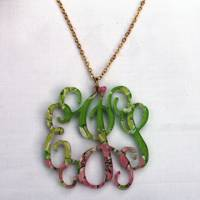 Lilly Monogram Acrylic Necklace