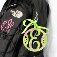 Monogrammed Acrylic Lilly Luggage Tag With  . . .