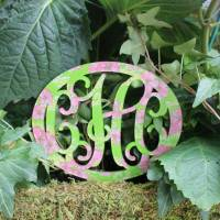 Lilly Acrylic Monogram Stake For Planter