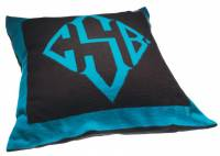 Monogrammed Cashmere Pillow With Feather  . . .