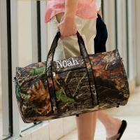 Monogrammed Large Lined Woodland Duffle Bag