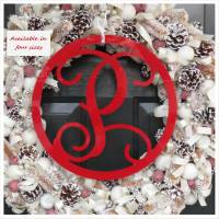 Acrylic Single Initial Wall Monogram With  . . .