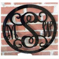 Acrylic Three Initial Wall Monogram With  . . .
