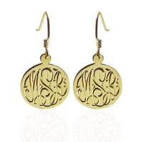 Hand Engraved Monogrammed Earrings On  . . .