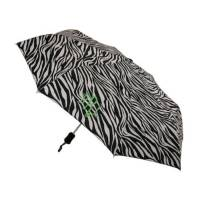 Monogrammed Zebra Umbrella In Black And White