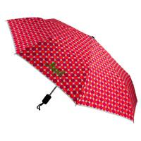 Monogrammed Umbrella - Fuchsia And Orange Dot