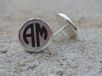 Engraved Monogram Acrylic Color Circle  . . .