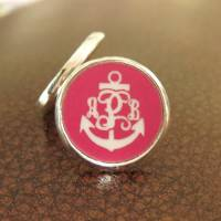 Engraved Anchor Acrylic Color Earrings In  . . .