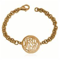Monogrammed Chunky Bracelet With Bordered  . . .