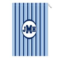 Monogram Laundry Bag With Blue And White  . . .