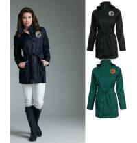 Monogrammed  Trench Coat Rain Jacket.