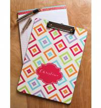 Monogrammed Clip Board Printed On Both Sides