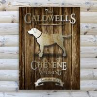Monogrammed Rustic Wood Cabin Canvas Print  . . .