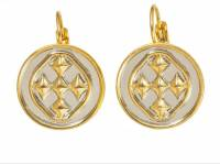 18K Gold Plated Two Tone Linked Medallion  . . .