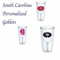 His And Her Monogrammed Tervis Wine Goblet  . . .